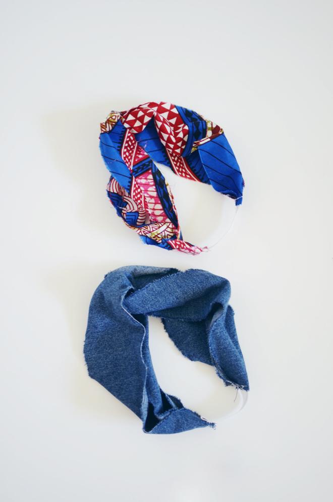 how to wear a turban style headband