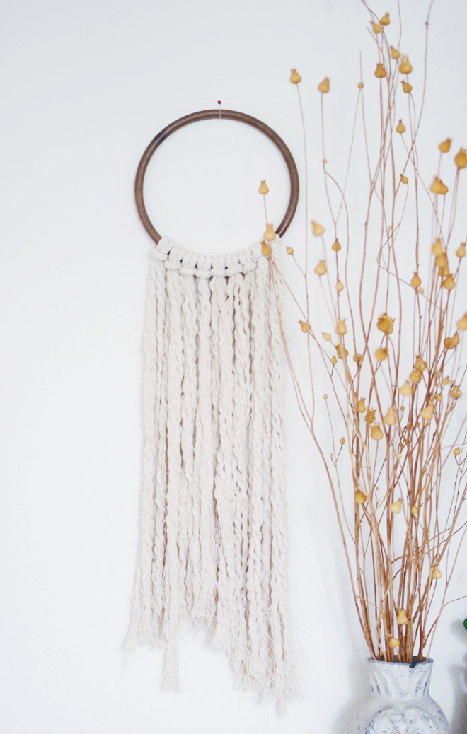 Cotton rope wall hanging cakies for How to make a rope wall