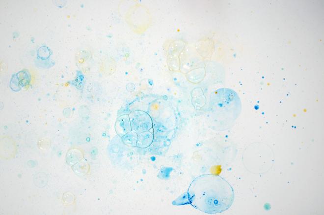 Diy Watercolor Bubble Art Cakies