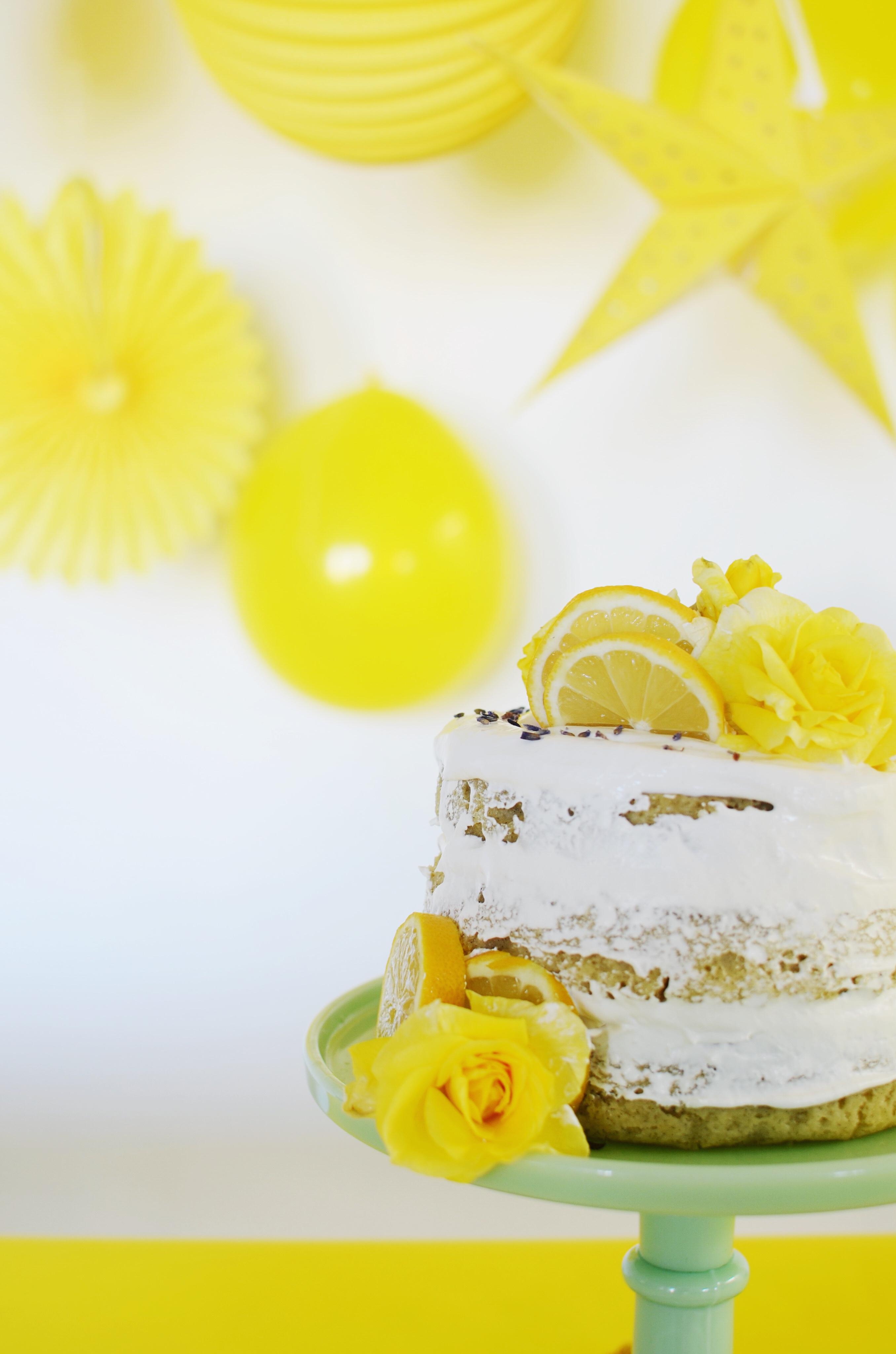 Lemon Lavender Layer Cake Recipe