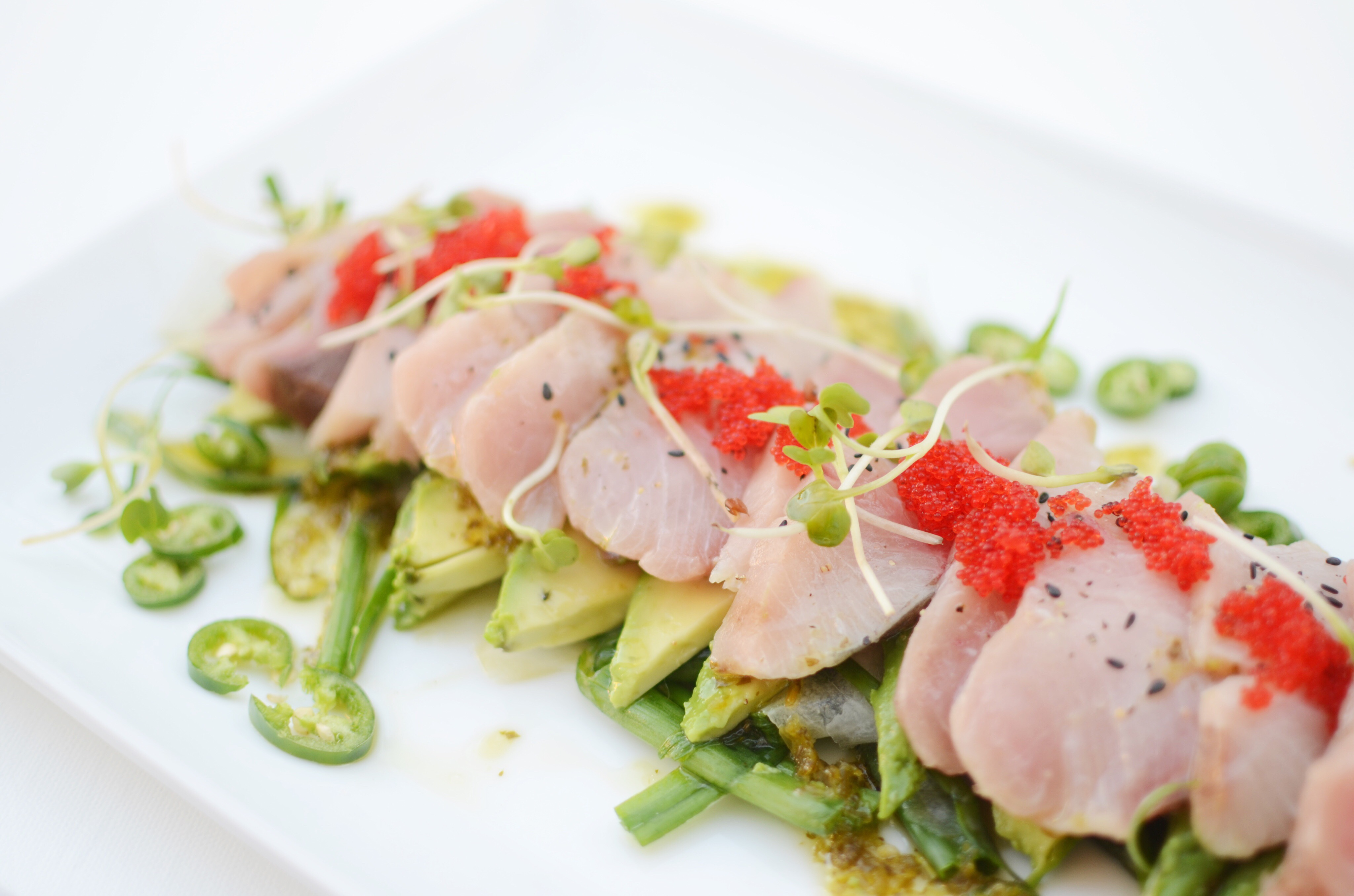 Hamachi Sushi With Spicy Cilantro Lime Cakies